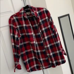 Red white and Blue Plaid Flannel